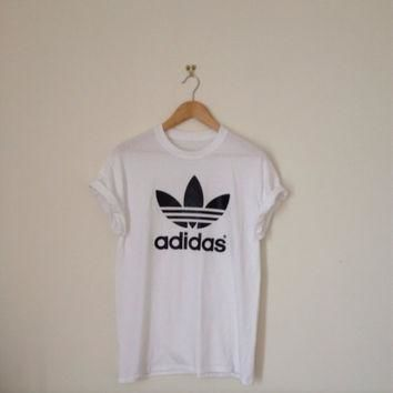 classic white adidas swag sexy style top tshirt fresh boss dope celebrity festival clo