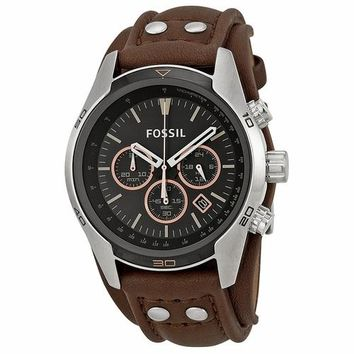 Fossil Mens CH2891 Chronograph Coachmen Brown Leather Watch