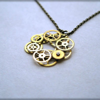 Clockwork Pendant Ring of Fire Elegant by amechanicalmind on Etsy