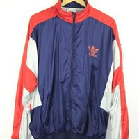 Navy and Silver Adidas Sports Jacket | One
