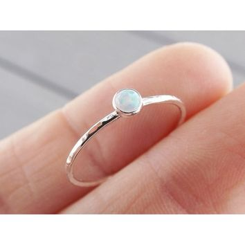 Exquisite 925 Solid Sterling Silver Nature Gemstone Slim Ring Textured Fire Opal Diamond Stacking Rings Bride Wedding Engagement