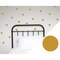 Wall Stickers: Large Dots Gold