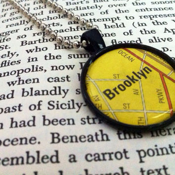 Brooklyn Map Pendant Necklace