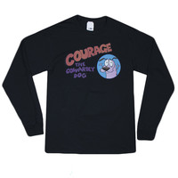 COURAGE THE COWARDLY DOG LONG SLEEVE TEE