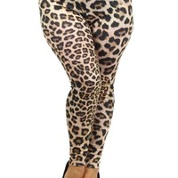 Plus Size Cheetah Print Leggings Plus Size Clothing, Club Wear, Dresses, Tops, Sexy Trendy Plus Size Women Clothes