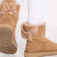 UGG BOOTs with Cute Bow Water Resistant