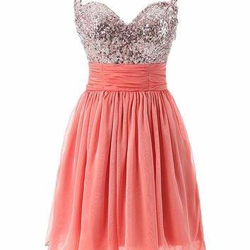 New Arrival Pink/Black Short Mini Prom Dress 2018 Sexy Sweetheart Backless Girl Party Dresses with Spaghetti Straps