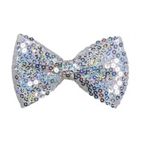 Sequin Bow Hair Snap