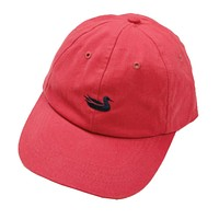 Hat in Vintage Red with Navy Duck by Southern Marsh