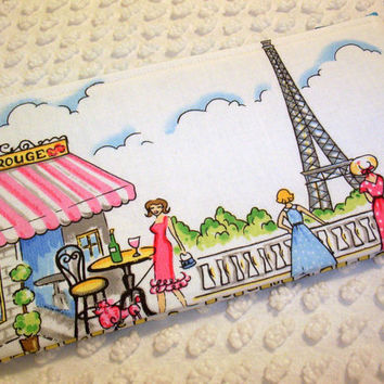 Retro Paris Zipper Pouch Slim Cosmetic Bag Springtime in Paris Retro French Chez Hoodie Paris Ville Eiffel Tower