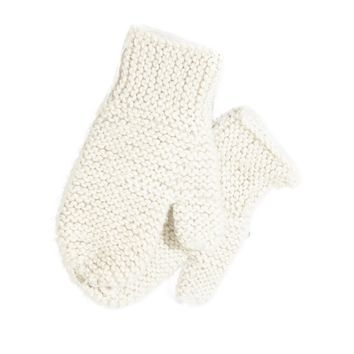 Solid Knit Alpaca Baby Mittens