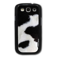 Cow Print - Protective Designer BLACK Case - Fits Samsung Galaxy S3 SIII i9300