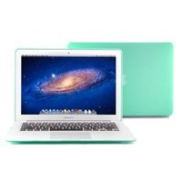 """GMYLE (TM) Robin Egg Blue Turquoise Frosted Rubberized See Through Hard Shell Snap On Carrying Case Skin Slim Fit for 13 """" Apple Macbook Air - With TPU Transparent Protective Keyboard Cover (Fit for 2013 Model)"""
