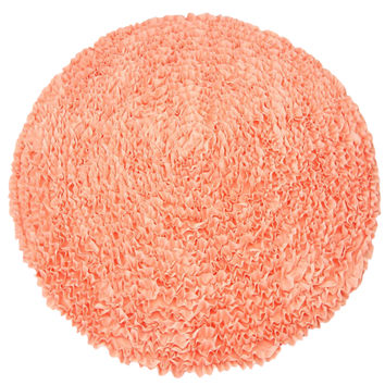 Coral Ruffles   Nursery Rugs (Made To Order. Usually Ships In 2 3