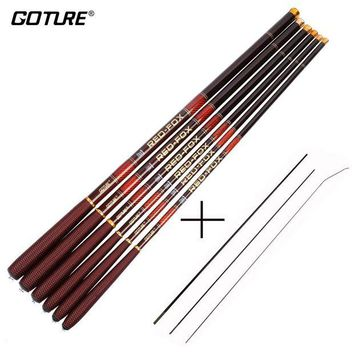 DCCKUH3 Goture Carbon Fiber Telescopic Fishing Rod Ultra-light Stream Hand Pole Carp Feeder Fishing Pole 3.0-7.2M