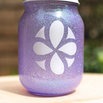 Tinted Glitter Mason Jar - Disney Princess Sofia the First Inspired