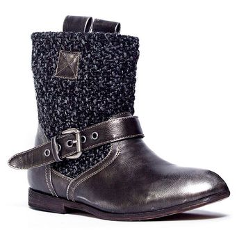MUK LUKS Mia Women's Buckle Ankle Boots (Black)