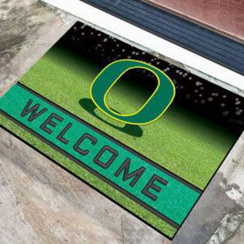 Oregon Ducks Door Mat 18x30 Welcome Crumb Rubber