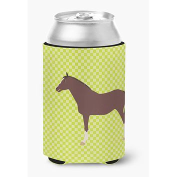 English Thoroughbred Horse Green Can or Bottle Hugger BB7739CC