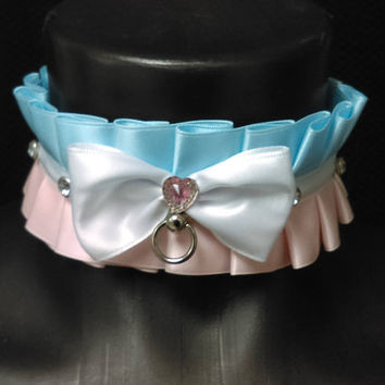 Cotton Candy Precious collar - bdsm petplay ddlg cgl gear