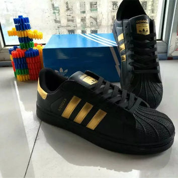 """Adidas"" All-match Fashion Couple Casual Gold Standard Three Bars Shell Head Plate Shoes Sneakers Shoes"