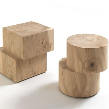 SOLID WOOD COFFEE TABLE TWINSET | RIVA 1920