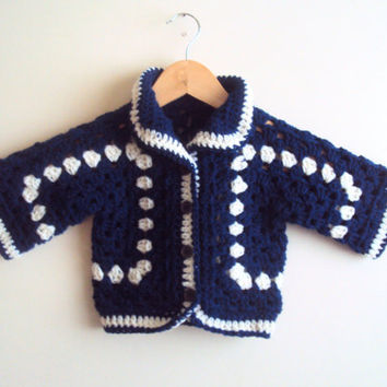 Afghan Jacket Crochet Granny Square Cardigan Hexagon Cardigan Granny Square Jacket Festival Vest Crochet Sweater Baby to Child Sizes