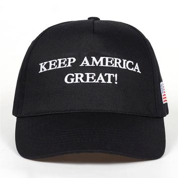2020 Donald Trump Red Black Hat Re-Election Keep America Great Embroidery USA Flag MAGA New Cap Cotton Baseball Hat Cap Mesh Cap