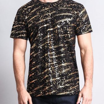Metallic Paint Long Length T-Shirt TS7009 - KK14B