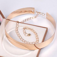 New Arrival Europe&America Gold Silver Metal Mirror Face Belts For Women Fashion Apparel Accessories Good Qualite V2#