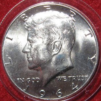 1964 USA  JFK John F Kennedy Silver Half Dollar Collectible 50 Cent Coin, Silver Coin, Philadelphia Mint, Collectible Coin, Vintage Coin