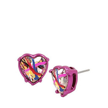 HARLEM SHUFFLE HEART STUD EARRINGS: Betsey Johnson