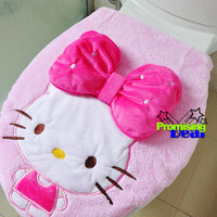 Cute Hello Kitty Bow-knot Toilet Seats & Toilet Lid Cover Pink