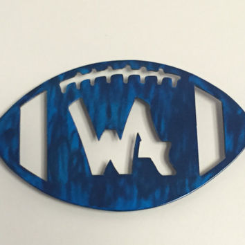 Metal Football Wall Hanging