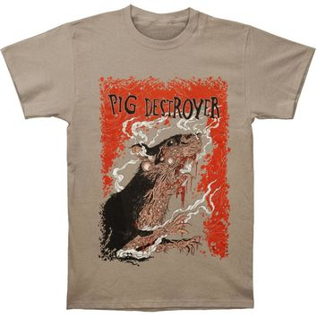 Pig Destroyer Men's  Rats Slim Fit T-shirt Tan
