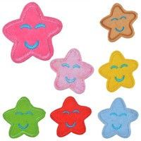 10 Happy Star Iron-On Patches