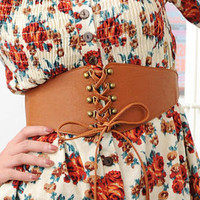 YESSTYLE: 59 Seconds- Lace-Up Belt (Brown - One Size) - Free International Shipping on orders over $150