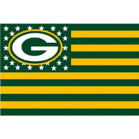 Green Bay Packers 3 X 5 Foot Stars And Stripes Flag