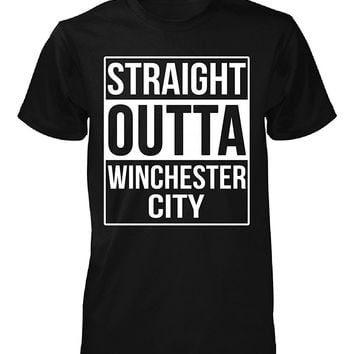 Straight Outta Winchester City County. Cool Gift - Unisex Tshirt