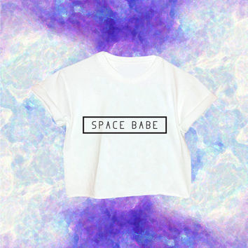 90s Custom Dyed Space Babe Shirt // Alien // 90s Grunge // Space Babe // Space Grunge