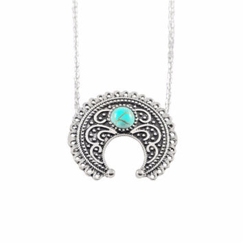 Long Bohemian Beads Necklaces   Pendants for Women Boho Vintage Accessories Statement Turquoise Colar Jewelry Green SM6