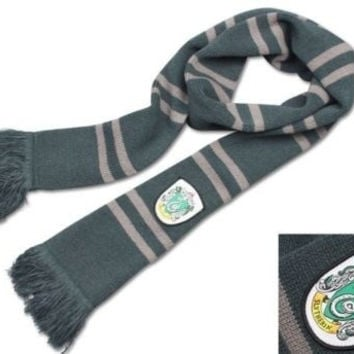 Harry Potter Slytherin House Thicken Long Wool Knit Striped Scarf Wrap Cosplay = 1957970884