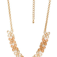 FOREVER 21 Finding Flowers Chain Necklace Peach/Cream One