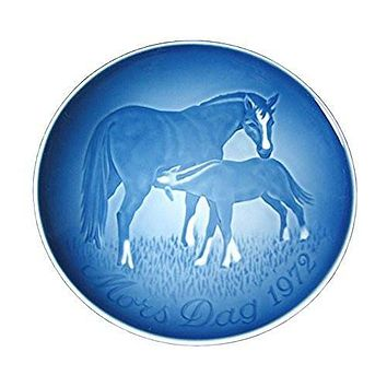 BING & GRONDAHL 1972 Mother's Day Porcelin Plate - Mare & Foal