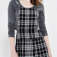 Tripp NYC Plaid Pleated Overall Skirt - Urban Outfitters