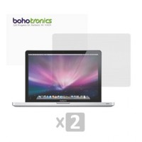 Boho Tronics TM 2 Two Pack Reusable LCD Screen Protector Cover - Compatible With Apple Macbook Air Pro 13.3 Inch - Clear
