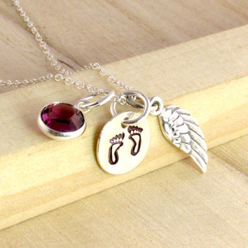 Baby Memorial Necklace - Loss of a Child - Miscarriage - Infant Still Birth - Death of a Child - In Sympathy - Pregnancy Loss - Personalized