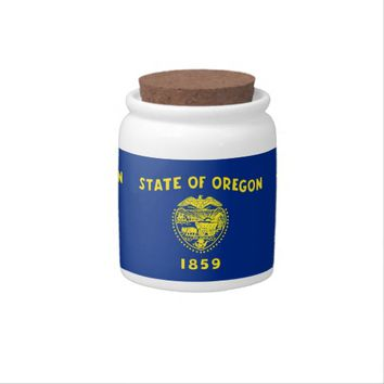 Oregon State Flag Candy Jar