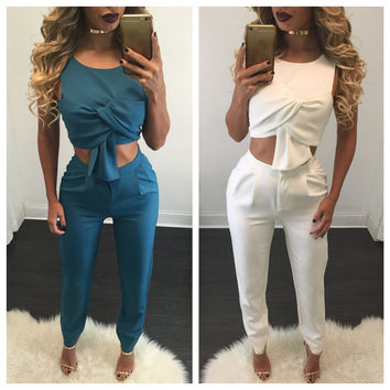 Sexy Vest Winter Backless Pen Pants Women's Fashion Bottom & Top [8998743108]