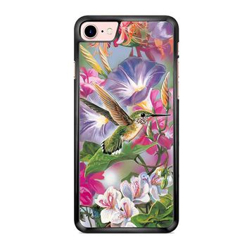 Hummingbirds And Flowers iPhone 7 Case